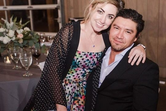 RaDonda Vaught, a former Vanderbilt nurse who has been charged with reckless homicide after a fatal medication error in 2017, is pictured with her husband, Ed, in an undated photo.