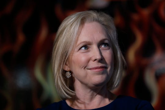 Sen. Kirsten Gillibrand, D-N.Y., speaks during a meet-and-greet with local residents, Monday, Feb. 18, 2019, in Cedar Rapids, Iowa.