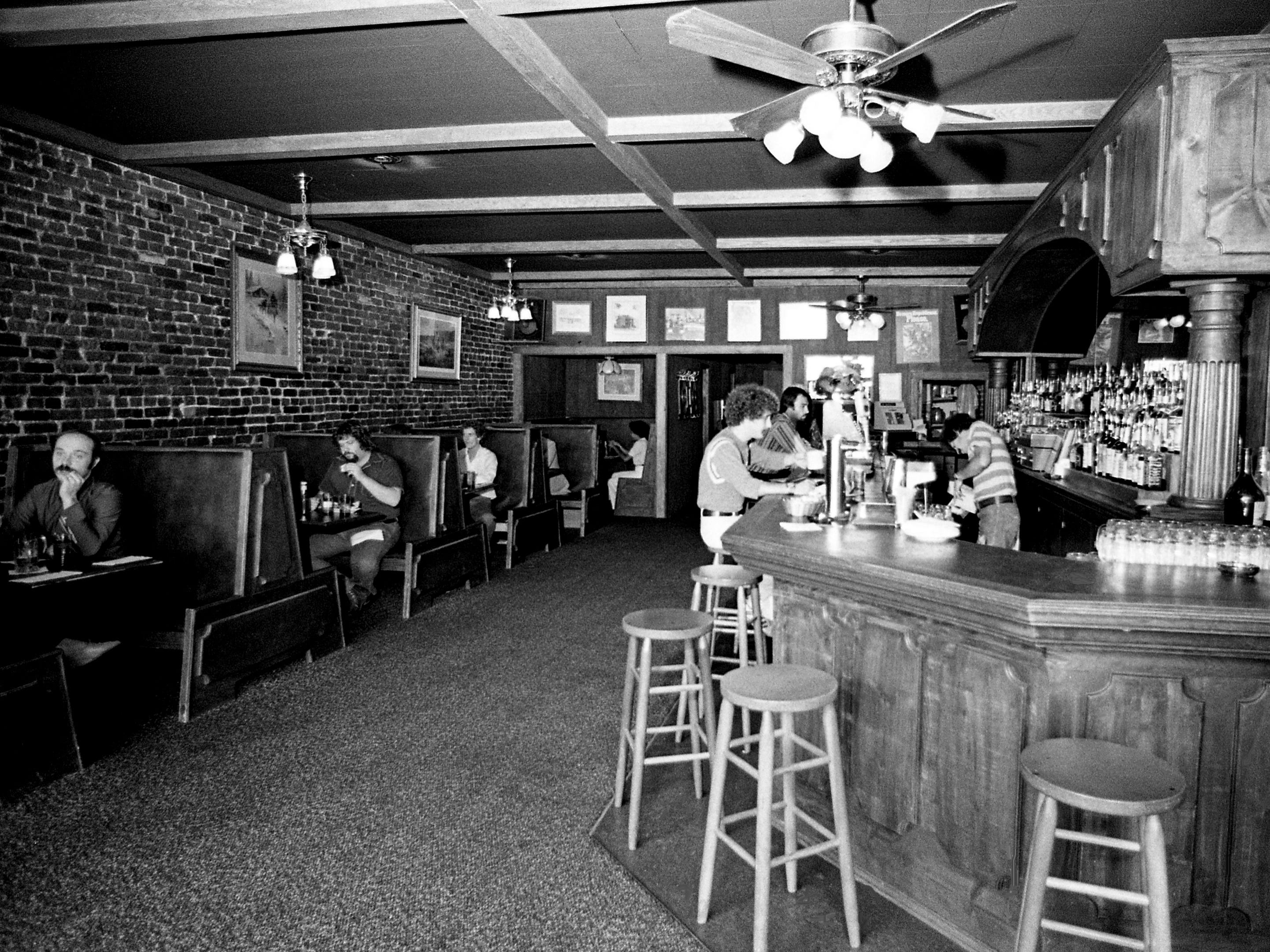 """In the new addition to the Gold Rush here Sept. 9, 1976, one can enjoy sandwiches on """"Texas Toast"""" or Mexican food in an atmosphere harking back to the stand-up saloon days of the wild, wild West. The Elliston Place establishment recently reopened its doors as an expanded restaurant."""