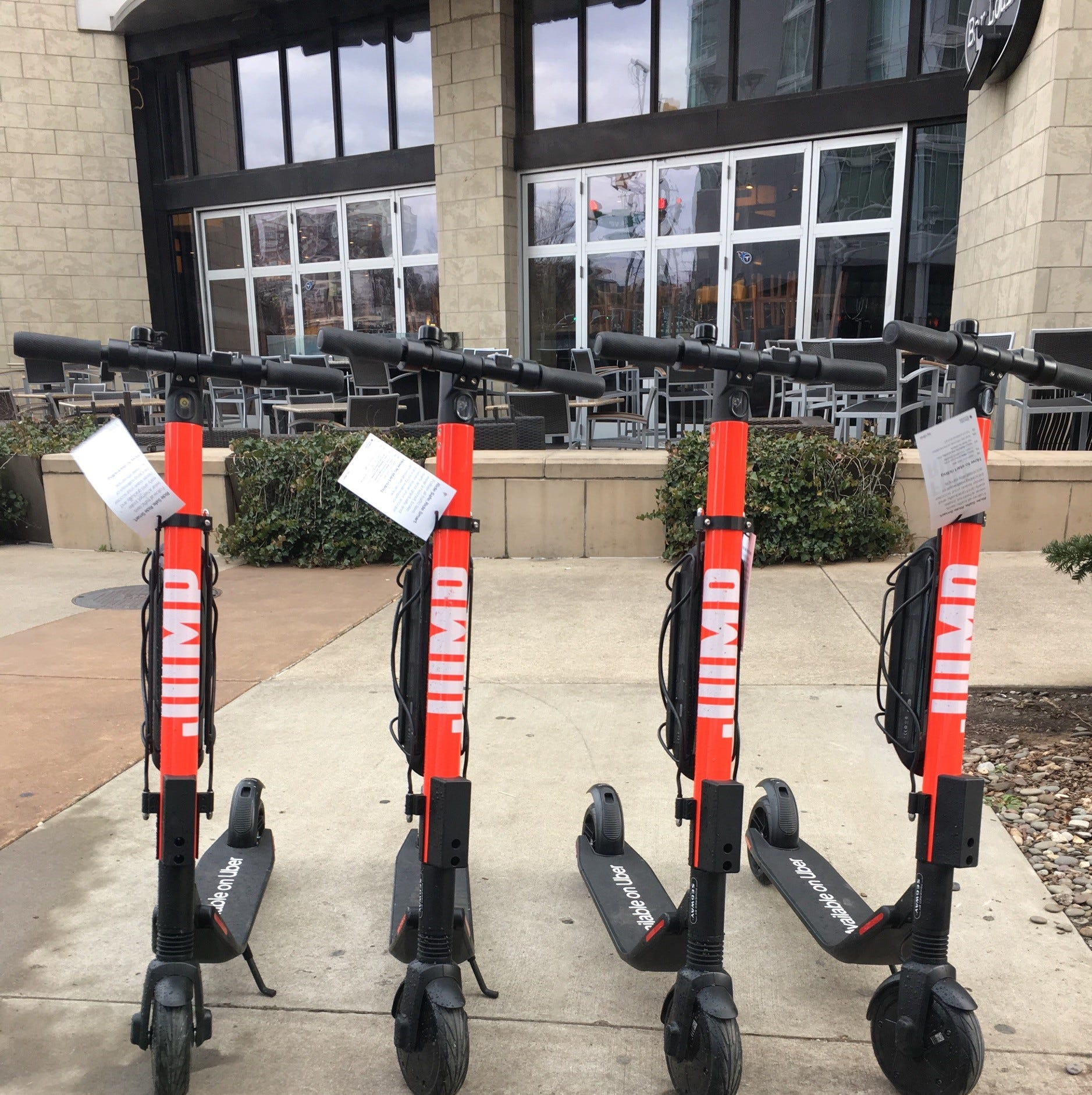 Uber launched JUMP scooters in Nashville on Feb....