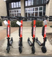 Uber launched JUMP scooters in Nashville on Feb. 10, 2019.