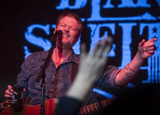 Blake Shelton performs at Ole Red on Lower Broadway in Nashville on Jan. 23, 2019. He visits Jacksonville, Florida, on March 7 for a concert there.