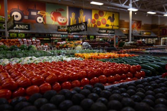 The produce section of a Sprouts Farmers Market in February in Florida.