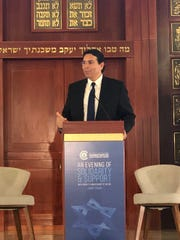 Danny Danon, Israel's permanent ambassador to the United Nations, speaks at Chabad Naples on Monday, Feb. 18, 2019.