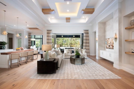 Glendale model, by Stock Custom Homes, features furnishings and design by Soco Interiors.