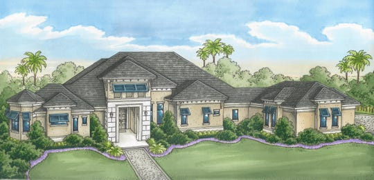 An artist's conception of the St. Kitts model at Quail West by Florida Lifestyle Homes.