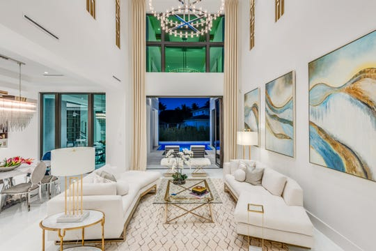 Clive Daniel Home has completed the interiors for this home in Aqualane Shores.