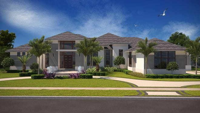 The Laurene model is one of three Diamond Custom Homes under construction in Quail West.