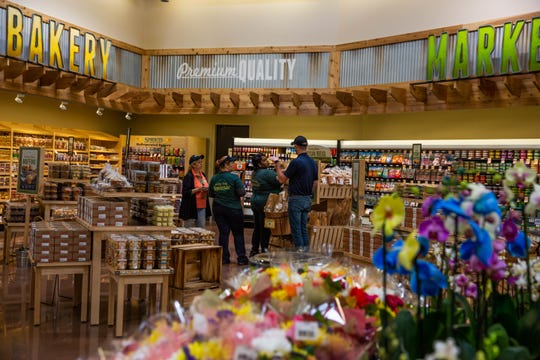 Employees at Sprouts Farmers Market prepare for their Wednesday opening in North Naples on Tuesday, Feb. 19, 2019.