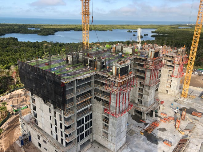 Kalea Bay's second tower, with 120 luxury residences, is slated to top off this summer.