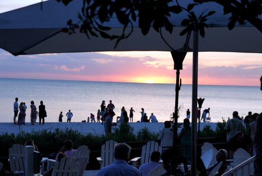 A Gulf sunset viewed from Baleen at the LaPlaya Beach and Golf Resort in North Naples.