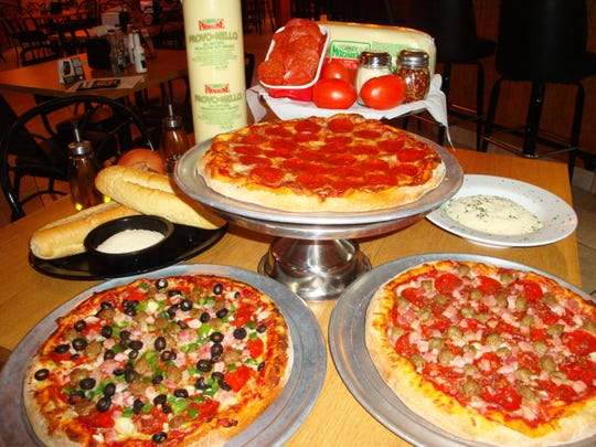 The pizza recipe at Sharky's in Bonita Springs originated in Ohio in 1971 near the campus of Kent State University.
