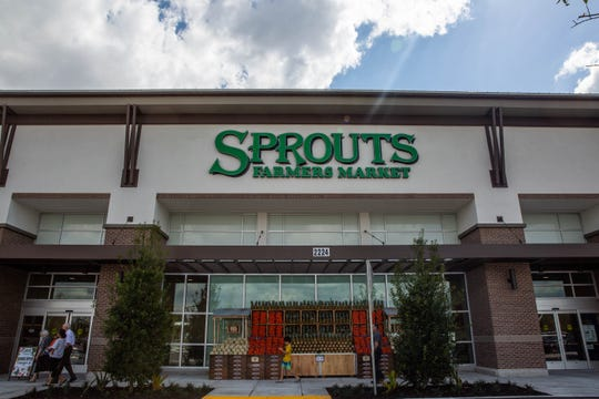 Sprouts Farmers Market prepares on Tuesday, Feb. 19, 2019, for its Wednesday opening in North Naples.