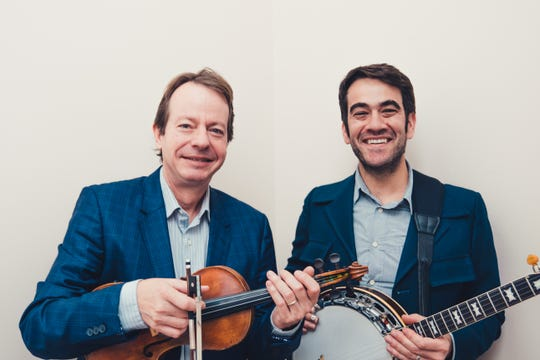 Noam Pikelny, right, and Stuart Duncan, will be performing Friday night at Thirty One West.