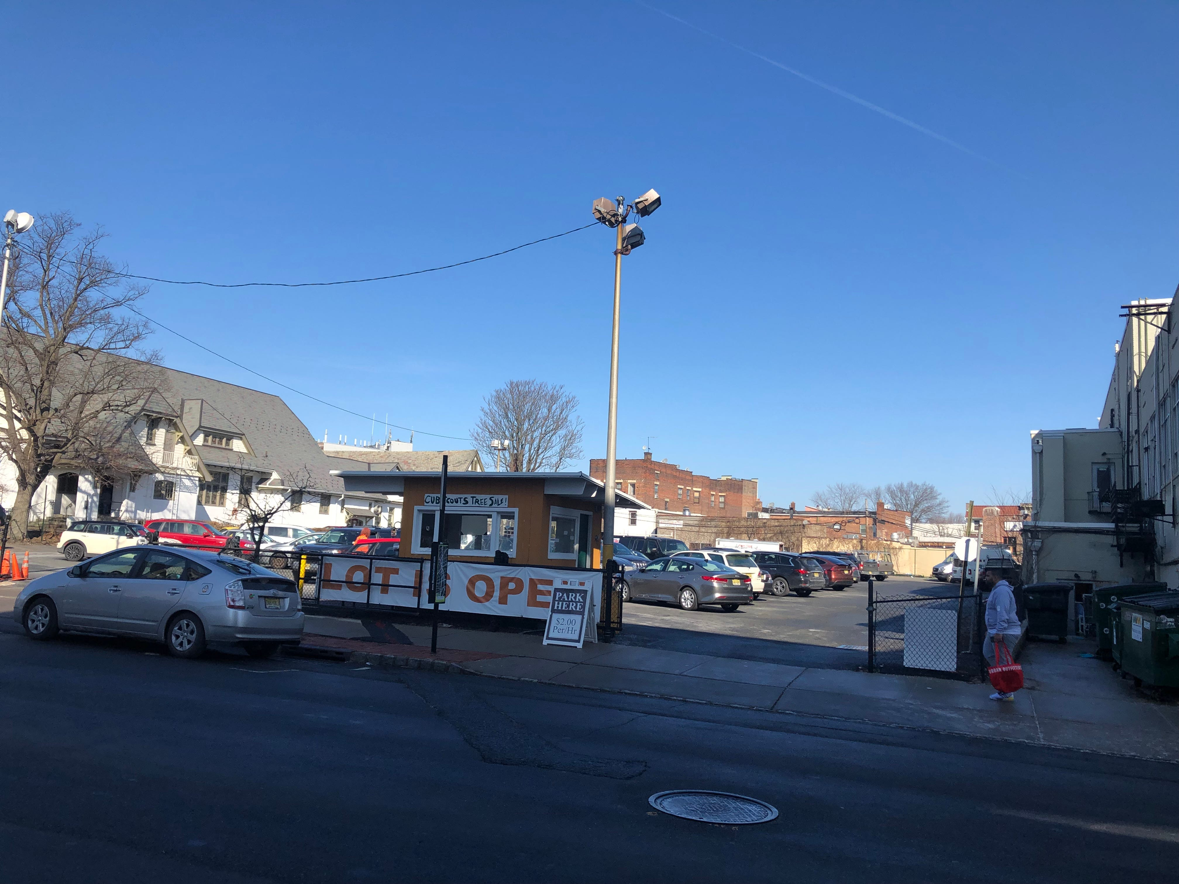 The former parking lot for Hahne's department store on Church Street will become 74 apartments under a new plan submitted to the town by its owners, Kensington Urban Renewal. Montclair regulations permit only 65 units but the developer will build 74 in exchange for funds for a community space.