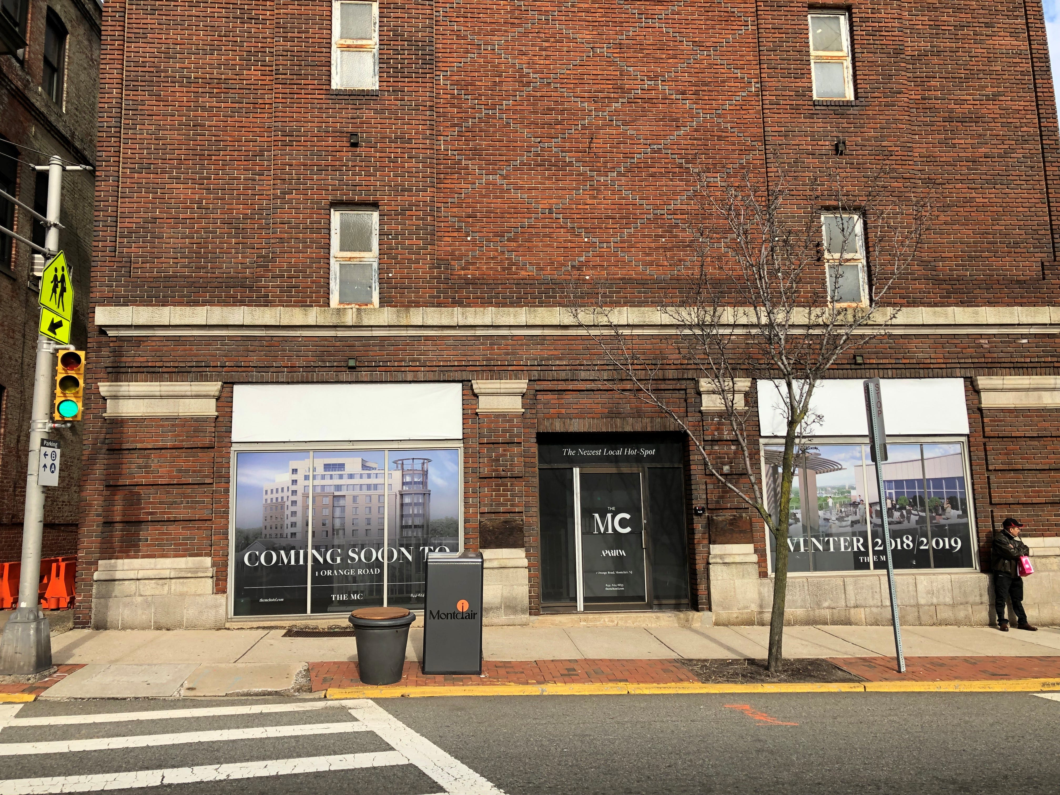 The Leach building in Montclair, next to the police station on Valley Road at Bloomfield Avenues, faces the new 159-room MC Hotel.