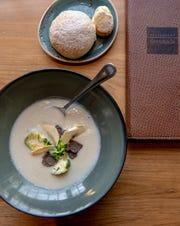 Creamless fennel cauliflower soup at Serenade in Chatham