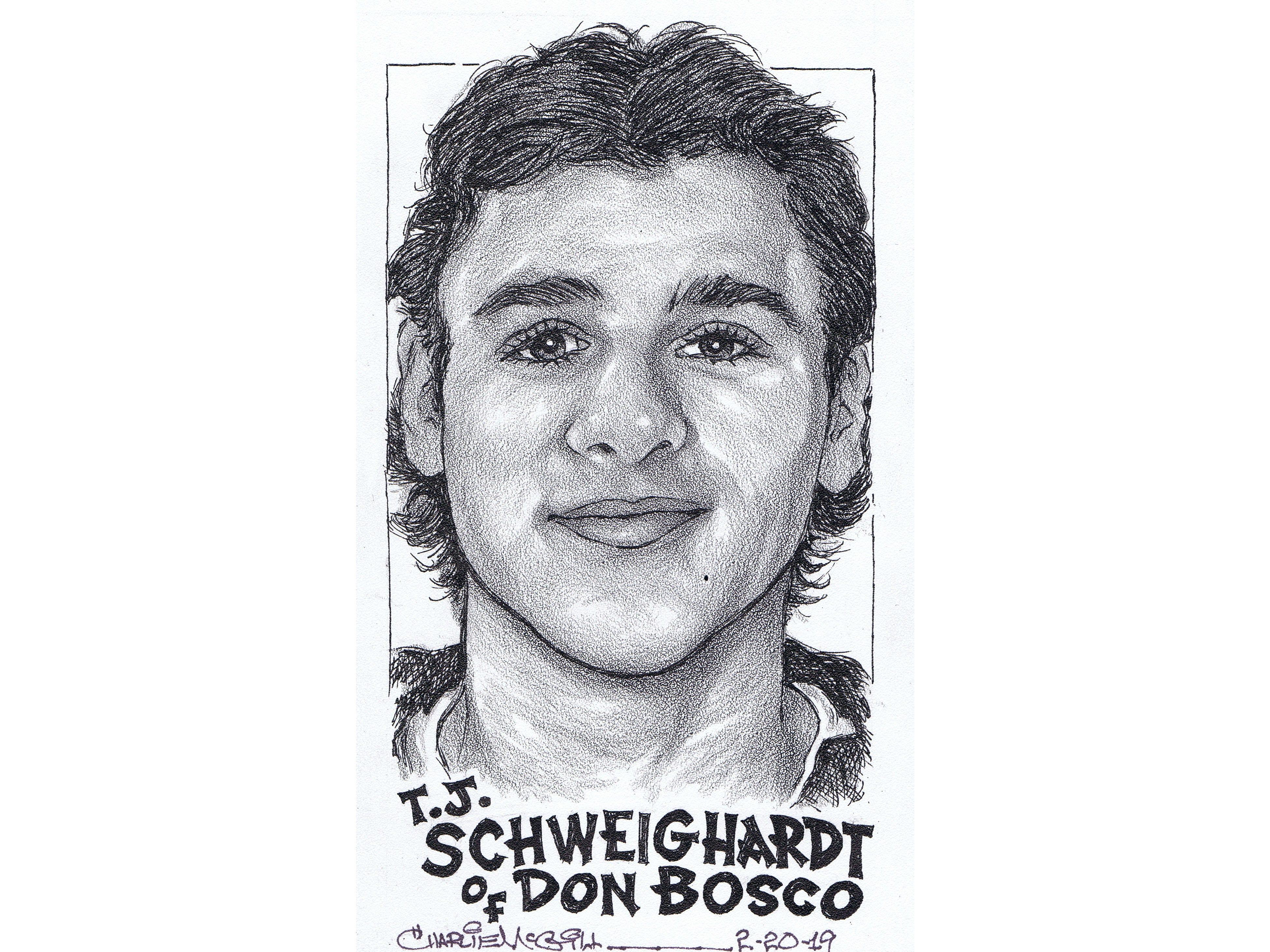 T.J. Schweighardt, Don Bosco hockey