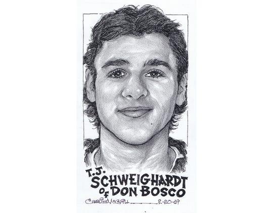 T.J. Schweighardt, Don Bosco hockey
