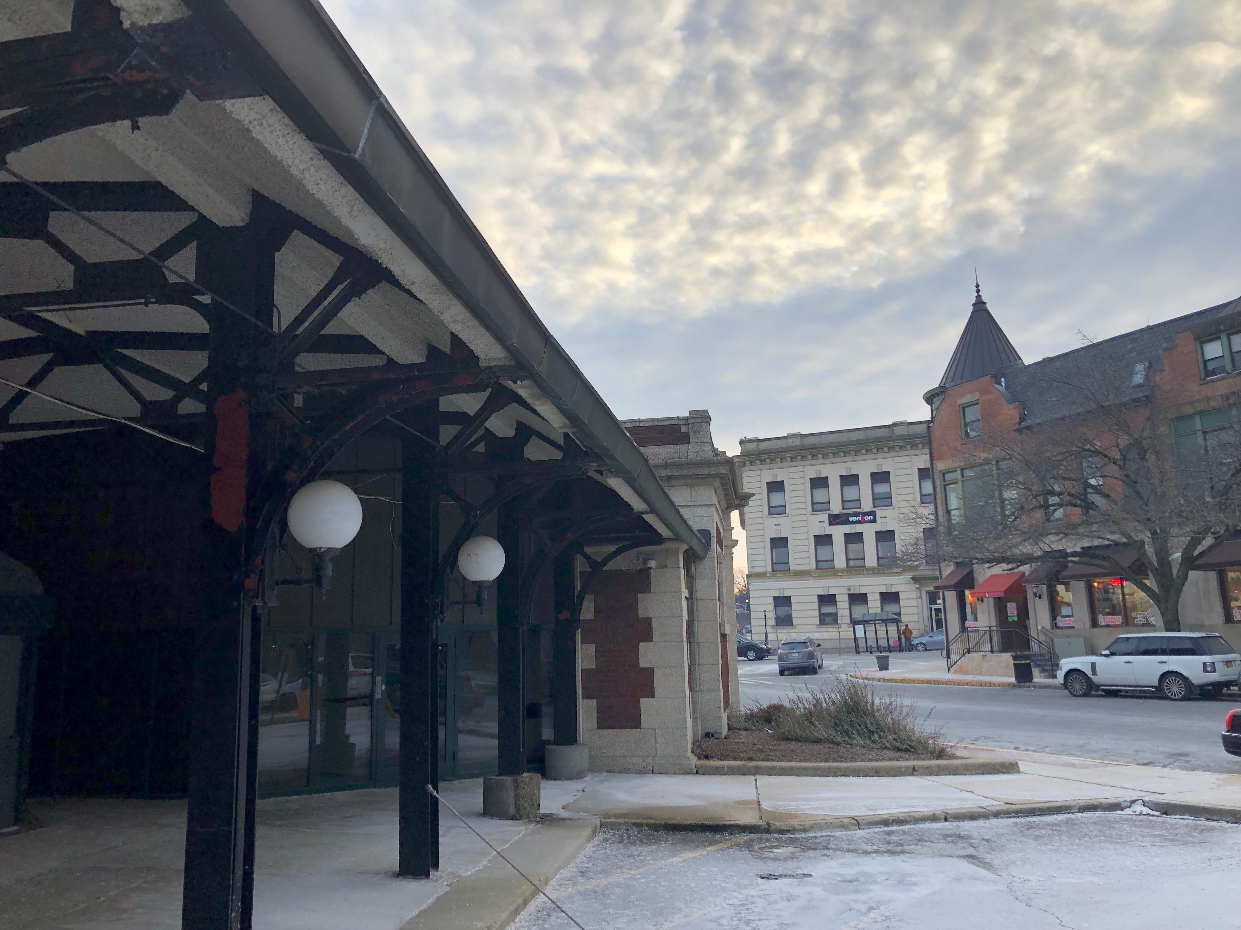 A view of the train sheds at the historic Lackawanna Plaza. Under the proposal made by developer Brian Stolar and recently approved by the Montclair Planning Board, the train sheds will be demolished to make way for parking.