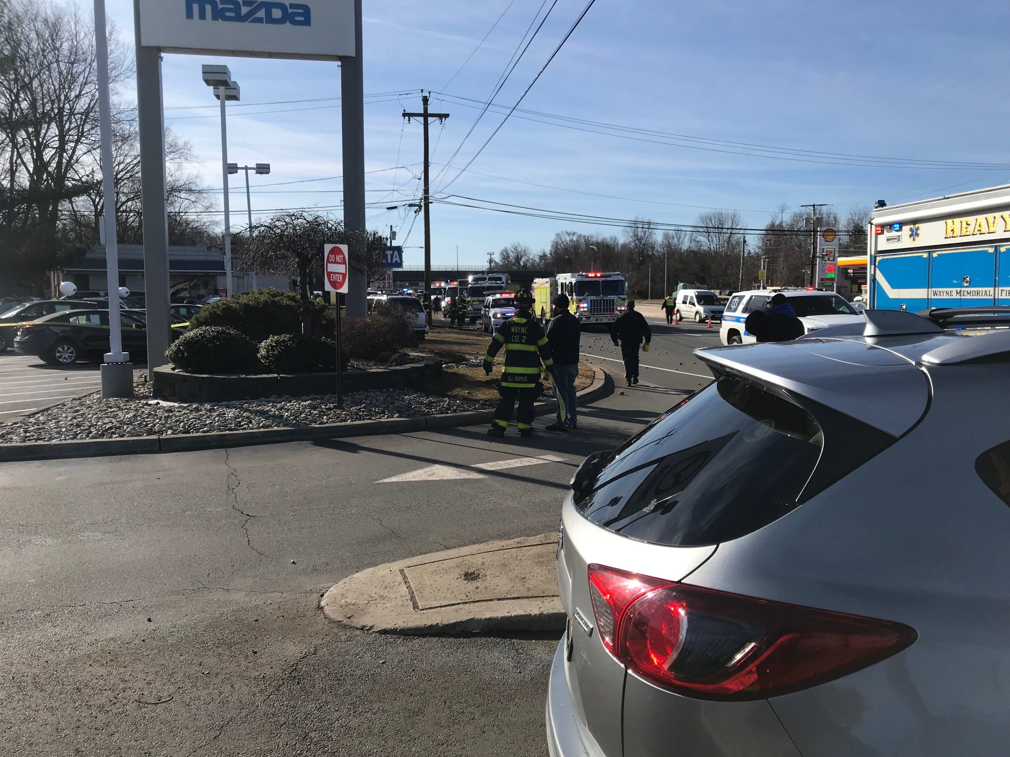 A serious crash on Route 23 left only one lane open in the northbound lanes.