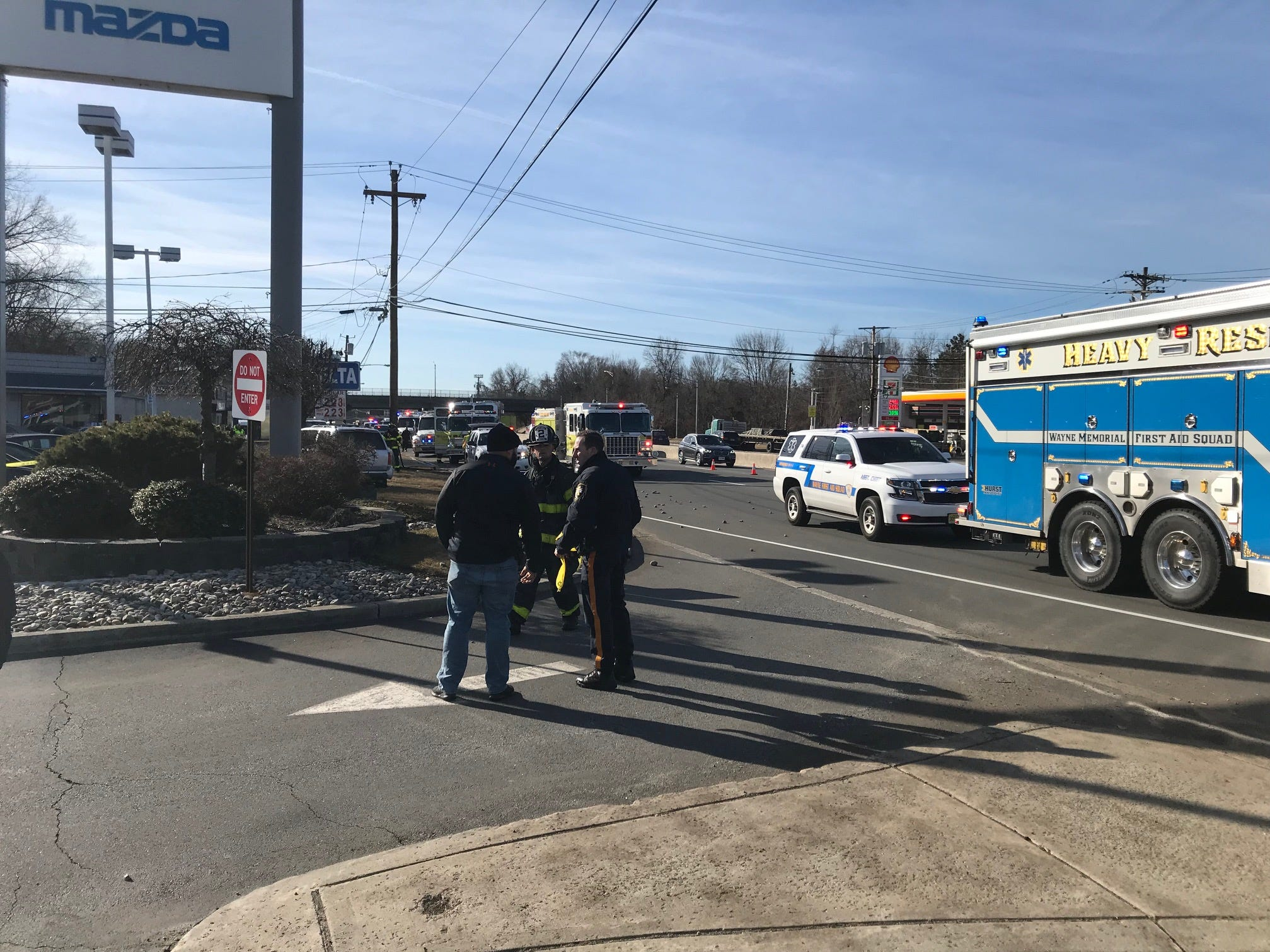 Firefighters and police were on scene at a serious crash in Wayne on Route 23 on Feb. 19, 2019.