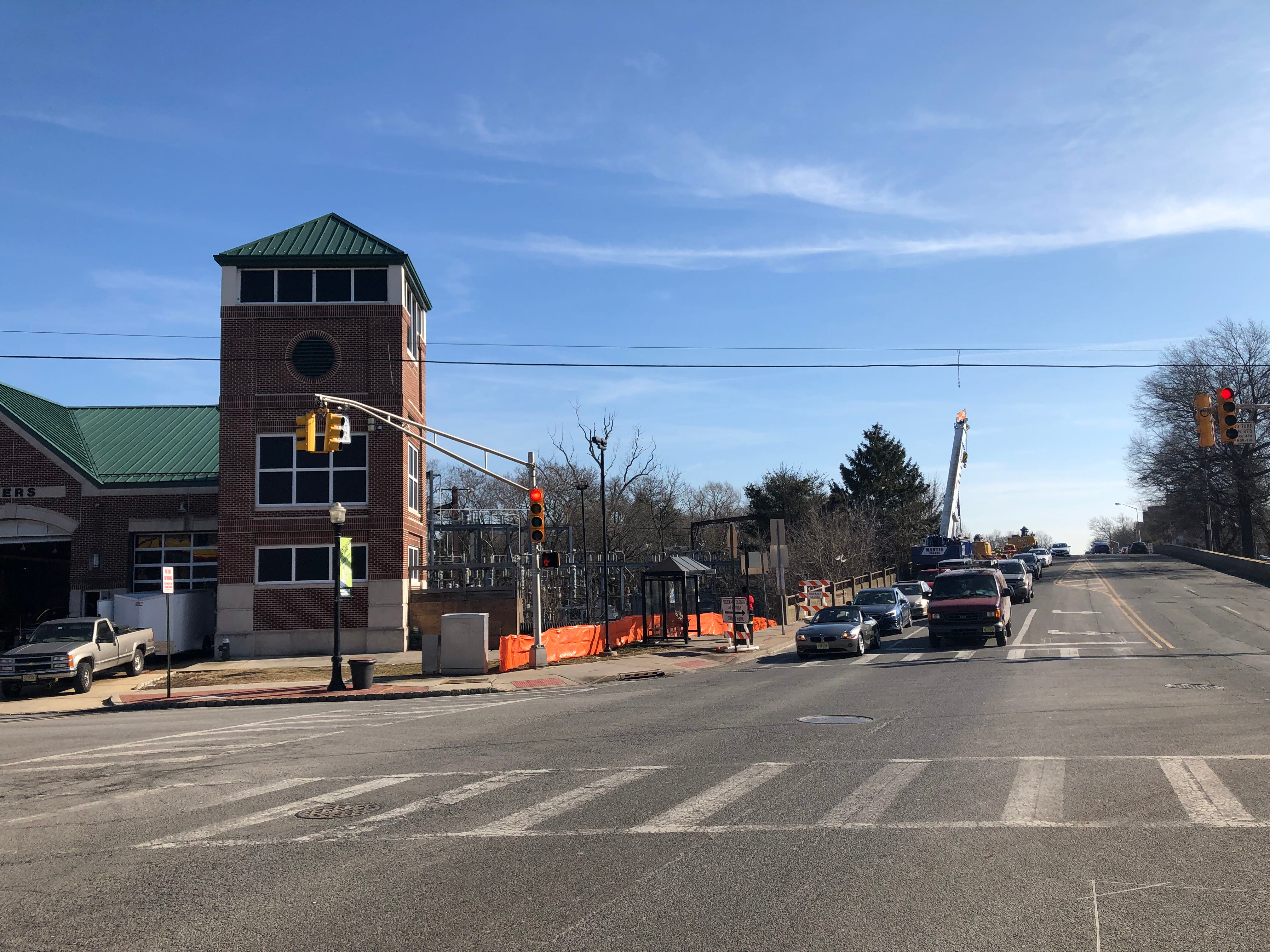 Bay Street Station is at Bloomfield Avenue on the southernmost edge of Montclair's border with Glen Ridge. February 2019.