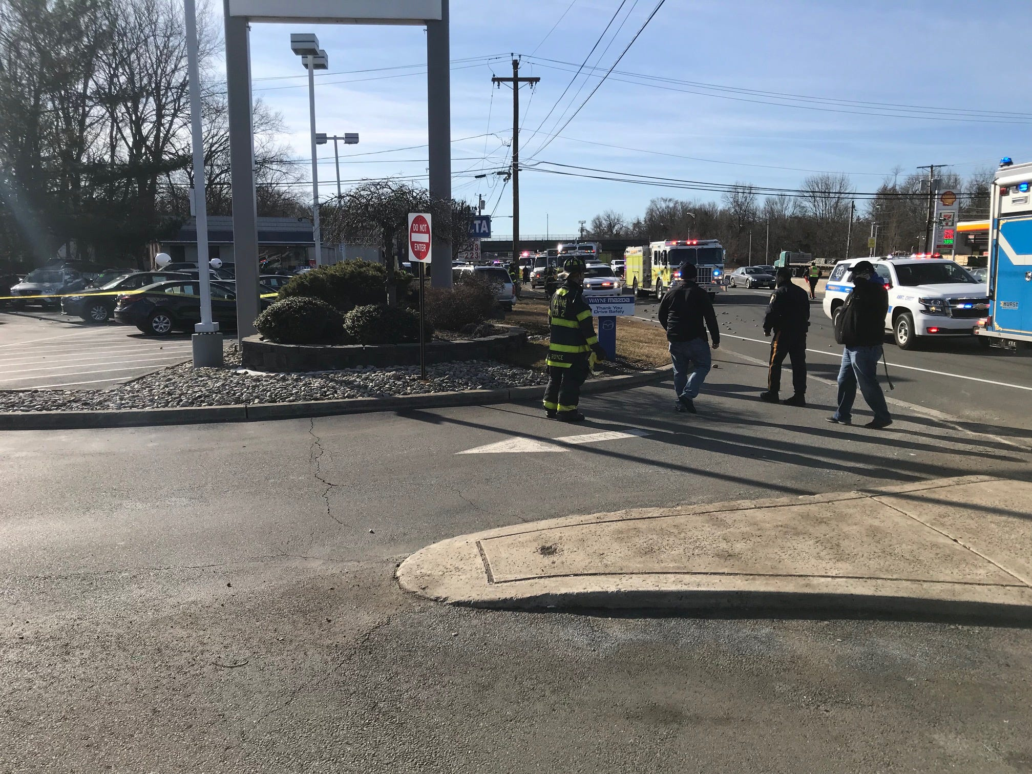 At least three cars were involved with a serious crash on Route 23 in Wayne.