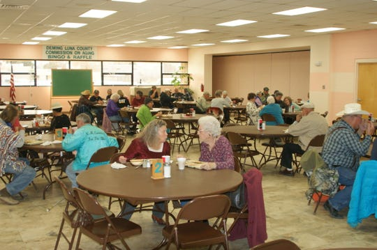 Hot lunches draw many senior diners to the Deming Senior Center and as many as 150 senior citizens use the many facilities at the center.