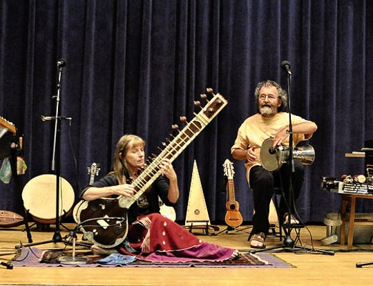 Four Shillings Short to perform on over 30 world instruments at the Rio Grande Theatre, 211 N. Main St., Friday, Feb. 22.