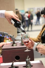 Visitors were able to sample many varieties of wines at he 2019 Vines in the pines.