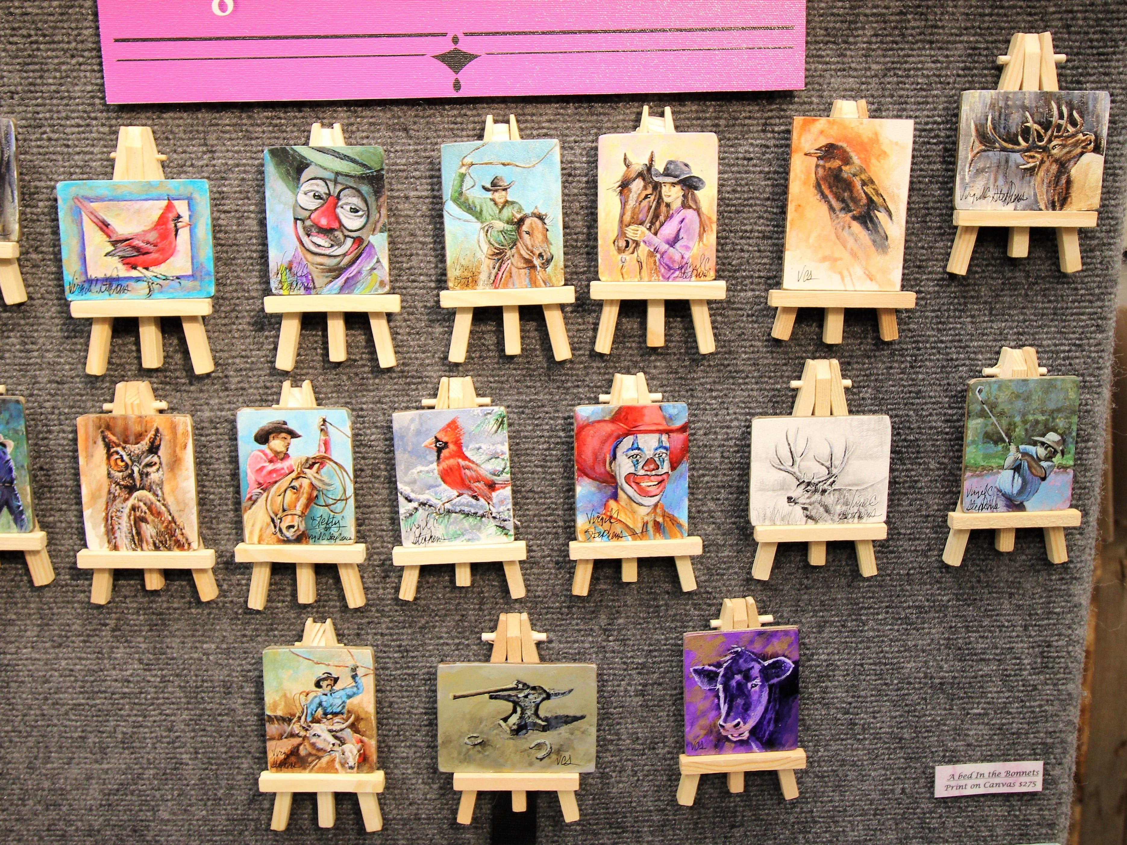 Miniature paintings were just some of the amazing art that could be seen at the Vines in the Pines.