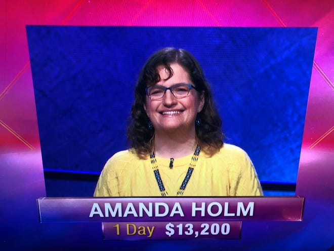 Amanda Holm of Livonia on the second episode of Jeopardy! on which she competed, which aired Feb. 18, 2019 on NBC.