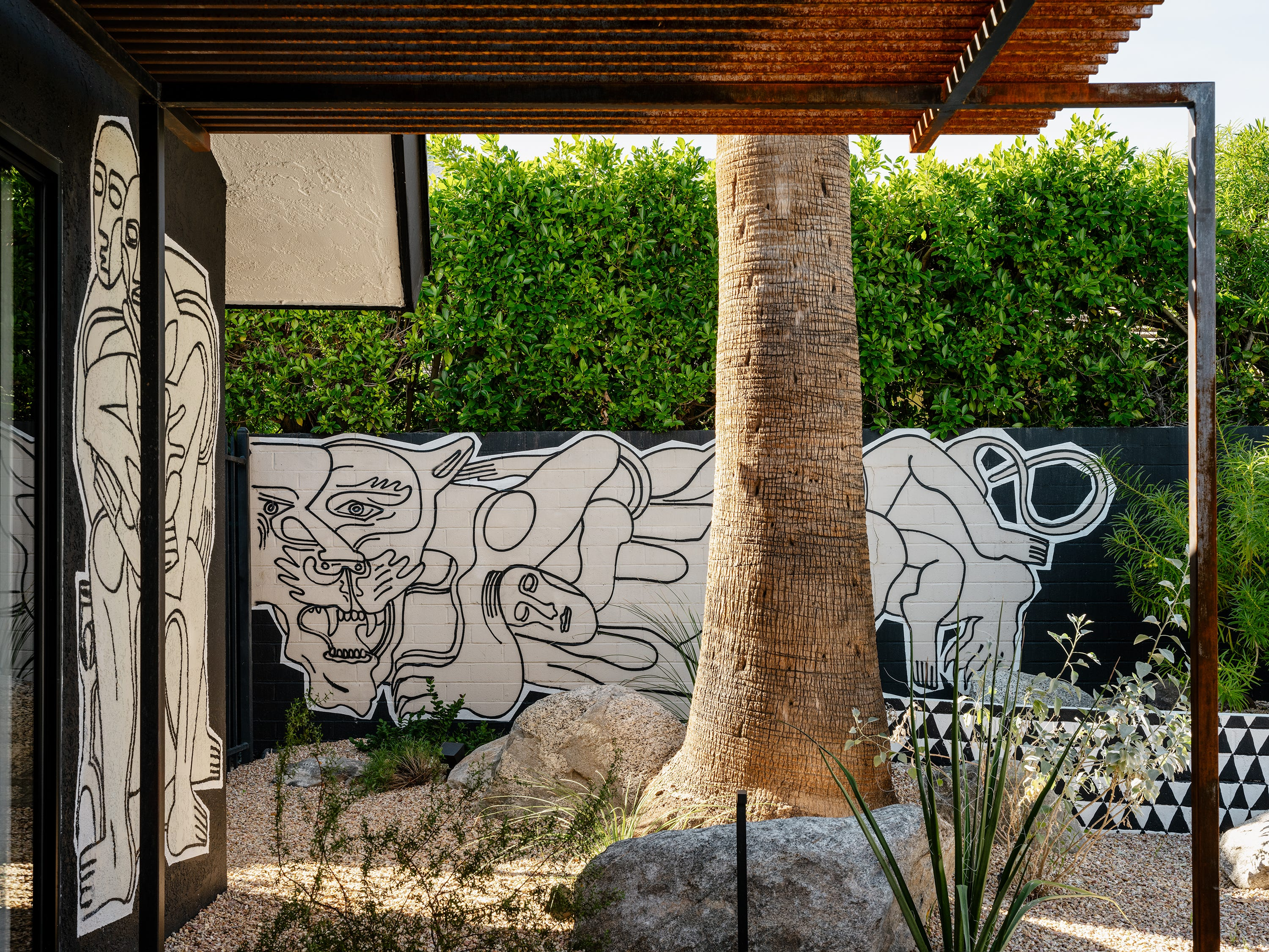 Palm Springs Area Homes And Businesses Embracing Outdoor Murals