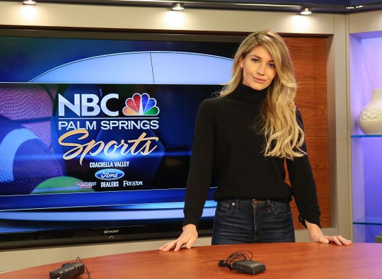 Olivia Garvey is the new sports reporter for NBC Palm Springs, February 7, 2019.