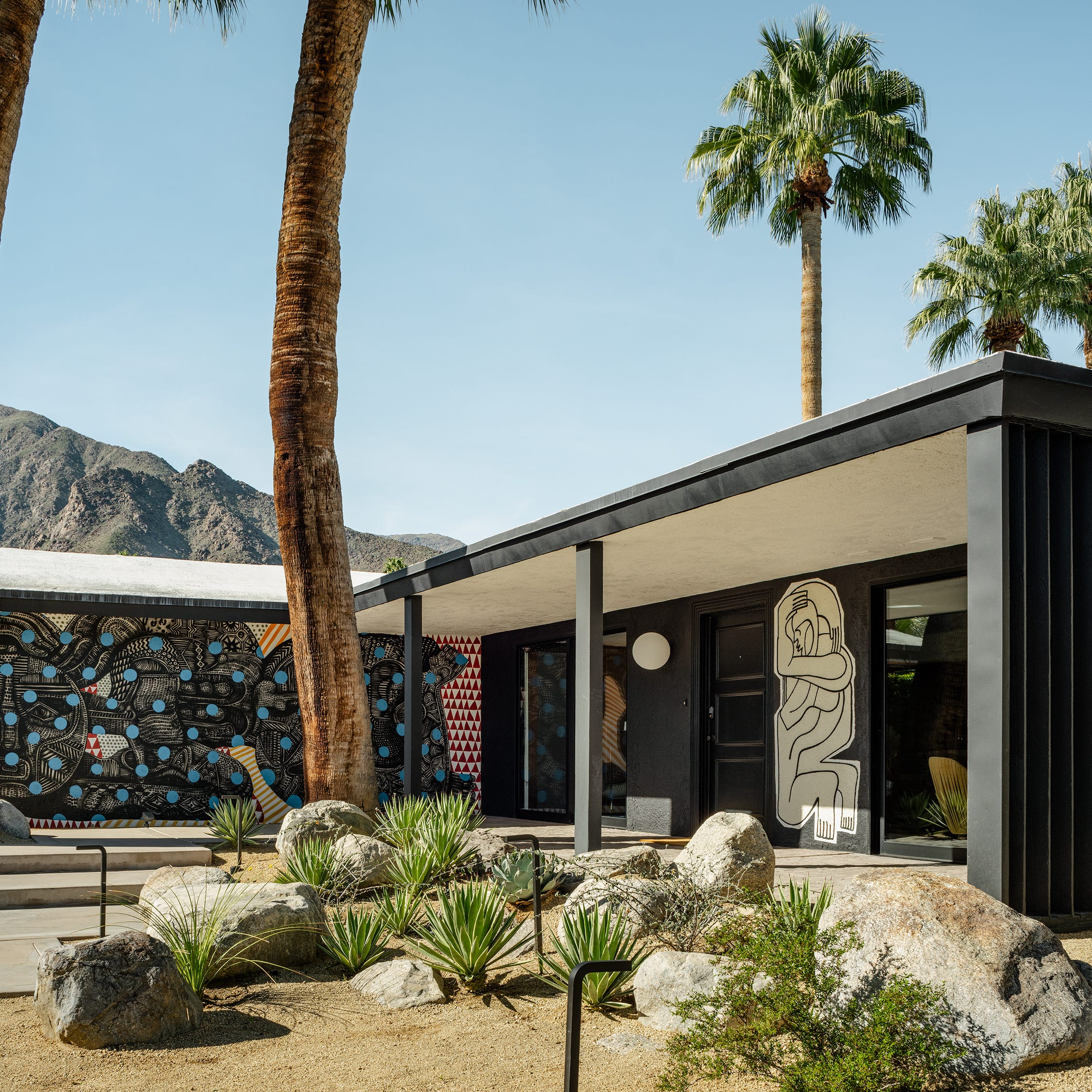 Desert homes and businesses embrace outdoor murals as an extension of personal style