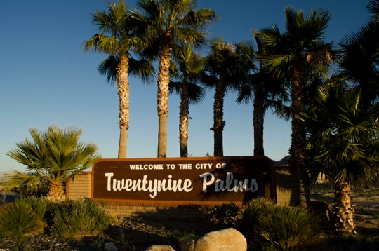 Twentynine Palms welcome sign