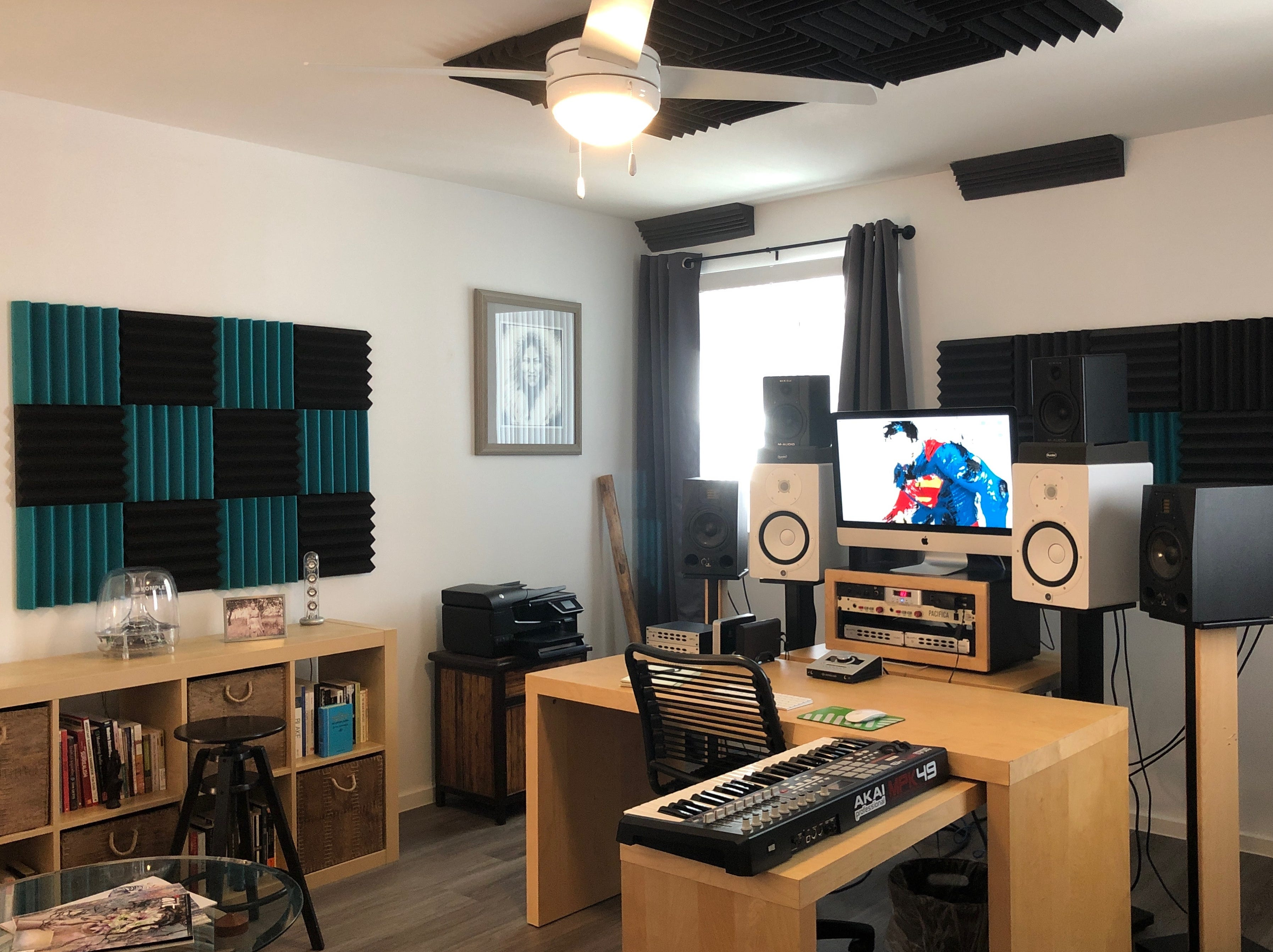 Drexler set up the second story of his loft as his production hub, complete with a variety of sound equipment and even strategic soundproofing on the walls and ceiling.