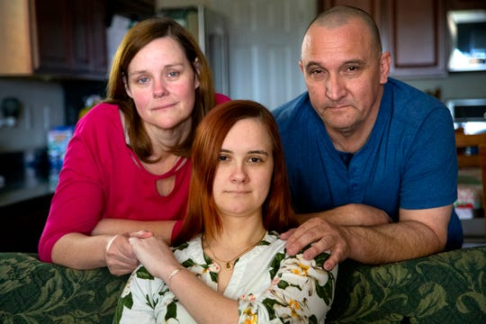 Caitlin Secrist, 21, and her parents, Suzette and Bill, struggled to get Caitlin's medical records from a bankrupt Florence hospital.