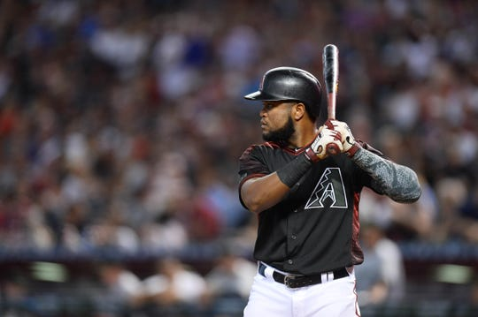 May 28, 2018: Arizona Diamondbacks center fielder Socrates Brito (19) against the Cincinnati Reds at Chase Field.
