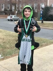 Greyson Music, a 9-year old Annville-Cleona School District resident, captured the 10-U 75-pound title at the Pennsylvania Junior Wrestling Area XIII Youth Qualifier (Dauphin, Berks, Lebanon, Lancaster), held at Franklin and Marshall College on Sunday. Music will now represent the area at the PJW Youth State Championship in Pittsburgh in March.