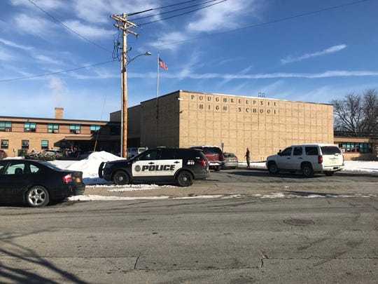 Poughkeepsie High School was locked down for nearly two hours Tuesday morning after city police said a student made a threat against another student on Feb. 19, 2019.
