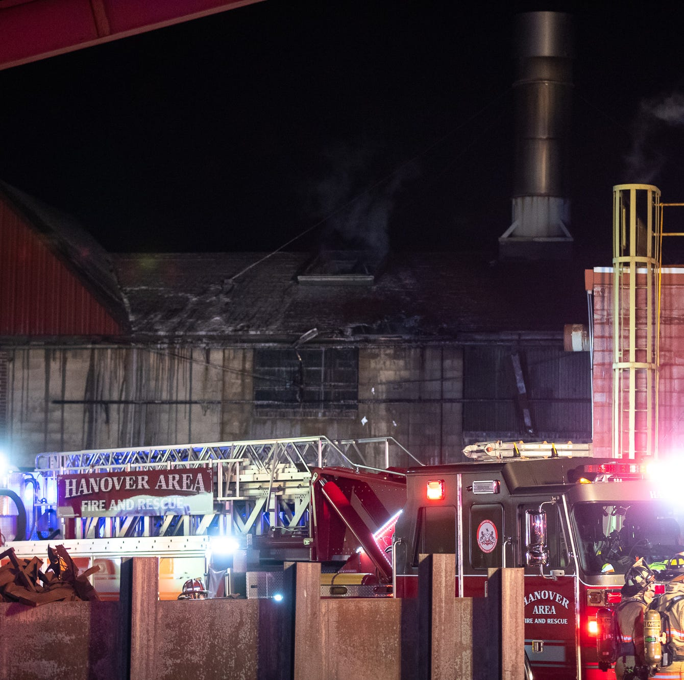 Crews investigating cause of overnight fire at York County's Penn-Mar Castings