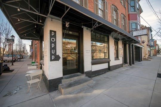 Outside 101 S. Duke Street the former site of Taste Taste's pop-up space. Taste Test officially closed on Thursday, March 7, 2019.
