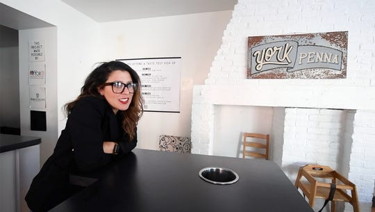 Toni Calderone, owner of O. N. E. Hospitality Group and co-founder of Tutoni's in York Tuesday, February 19, 2019. Calderone is launching the Presto Pasteria, a short order concept in Lititz.