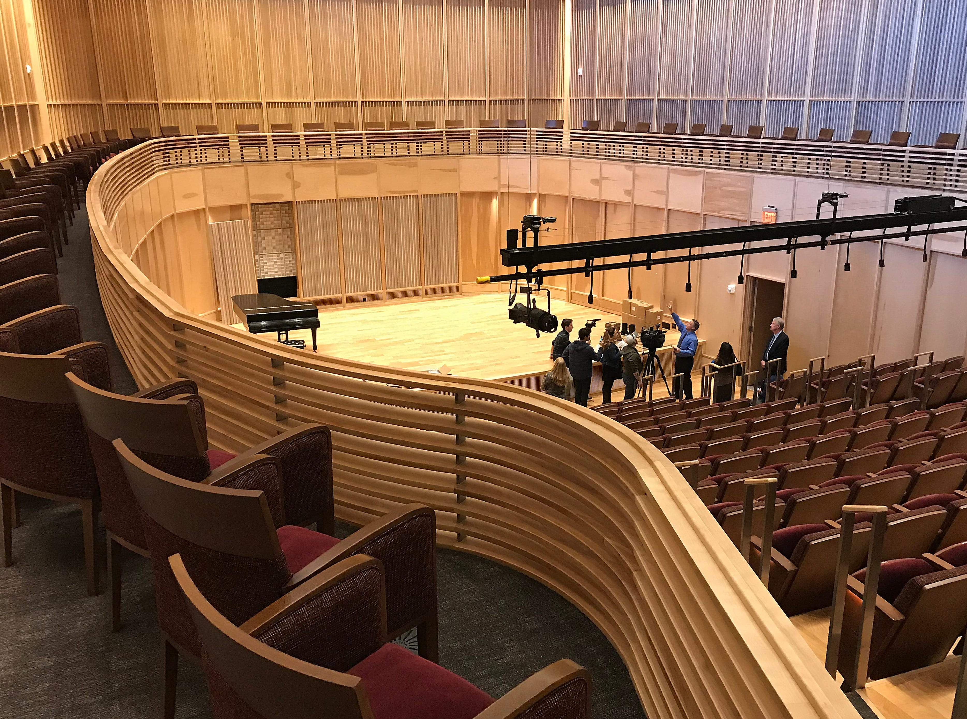 The recital hall is seen at the new University Arts Building on the campus of the University of Nevada, Reno on Feb. 19, 2019.