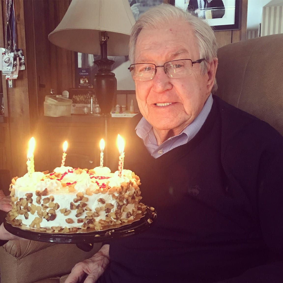 Joe Crozier celebrated his 90th birthday on Tuesday, Feb. 19 at his home in Amherst, Erie County. Crozier coached the Rochester Amerks to three Calder Cup championships in the 1960s.