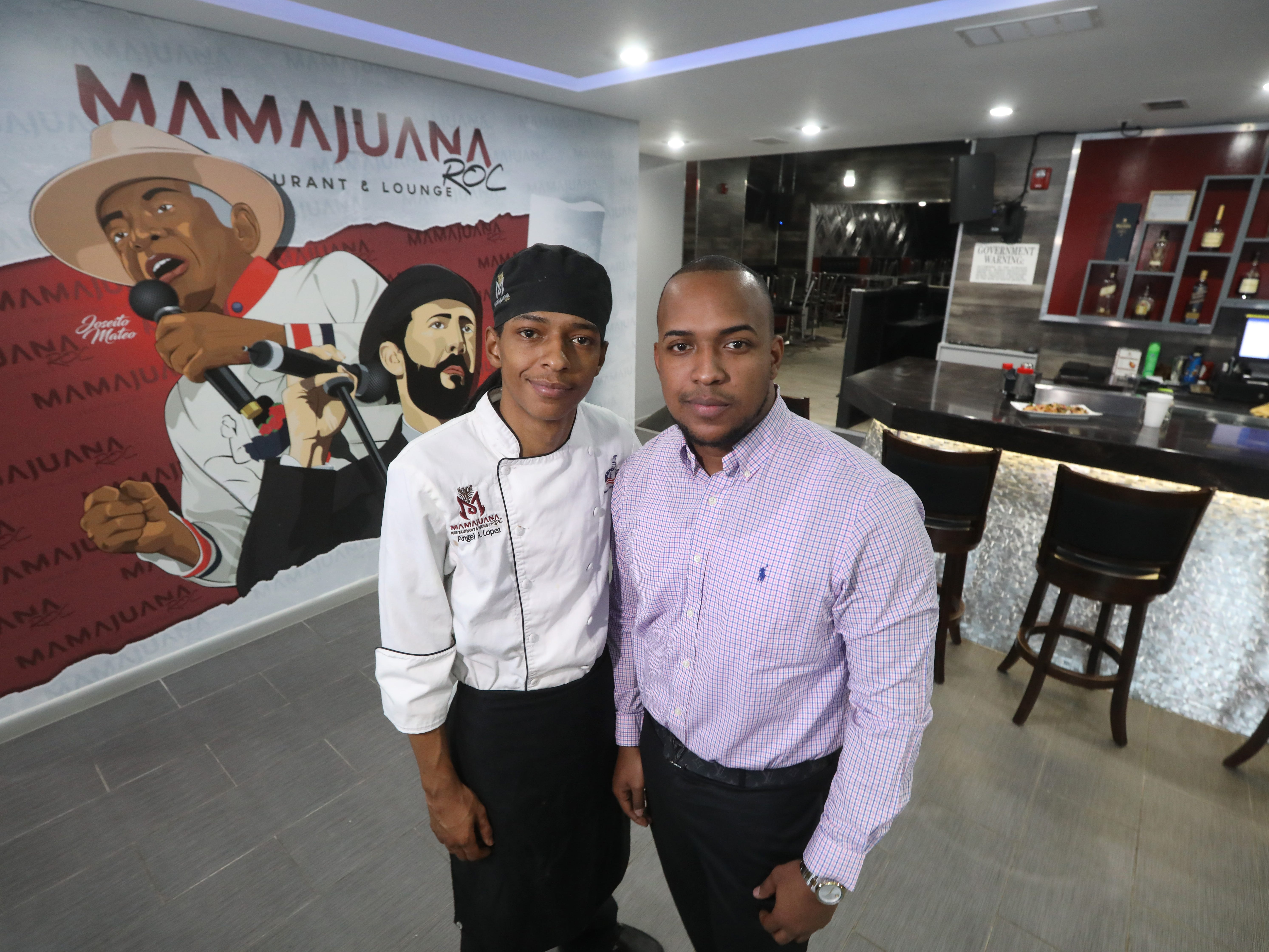 Brothers Angel Lopez, left, and Marcos Lopez, right, work together at MamaJuana Restaurant and Lounge in Rochester.