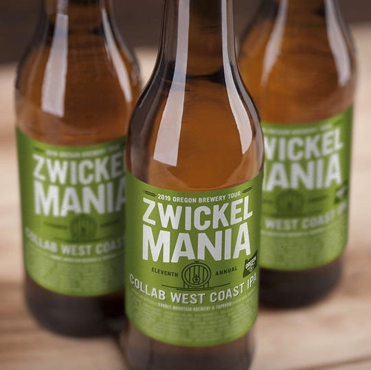 37 breweries from across the state have teamed up to craft aZwickelmania beer. Collab West Coast IPA isa limited-runbottledbeer that will only beavailable topurchase at participating breweries starting on the day of the event itself. Proceeds from sales of the beer benefit theOregon Brewers Guild.