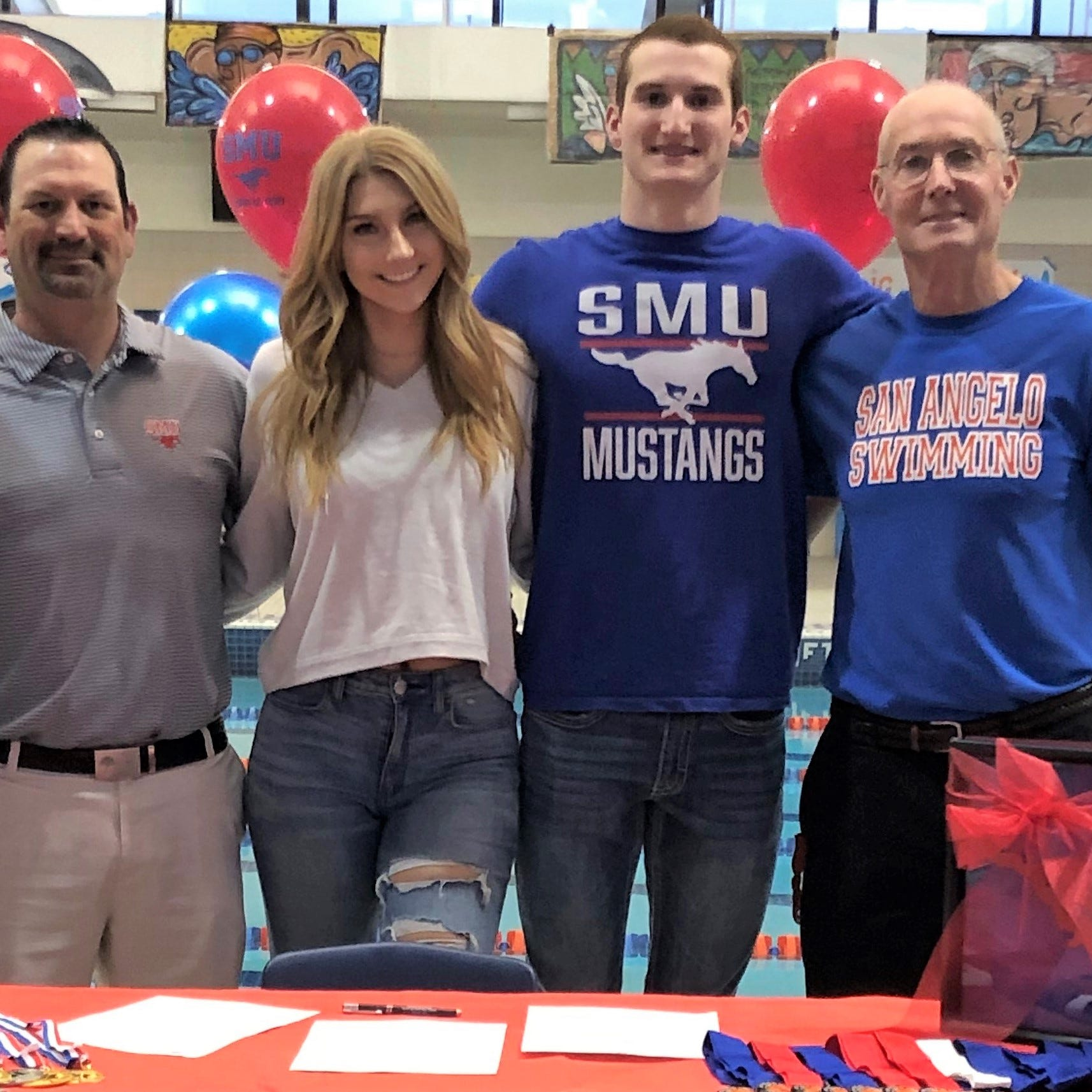 San Angelo Central swimmer Riley Hill ready to make splash at SMU